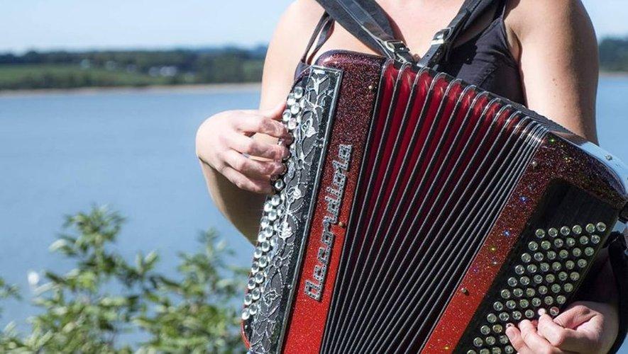 Véronique Pomiès et son accordéon