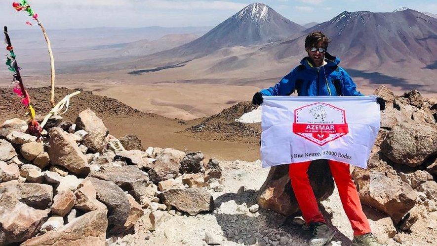 Alexandre en haut du Cerro-Toco.