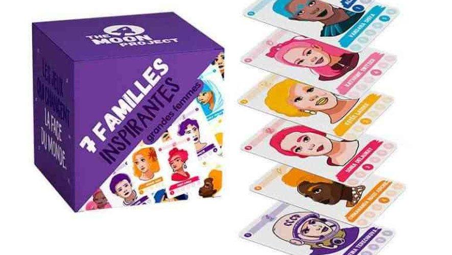 """Un jeu de """"7 familles"""" qui met les grandes femmes de l'histoire à l'honneur."""