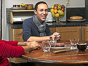 Josiane, Jean-Paul et leur fils,acteurs du documentaire.