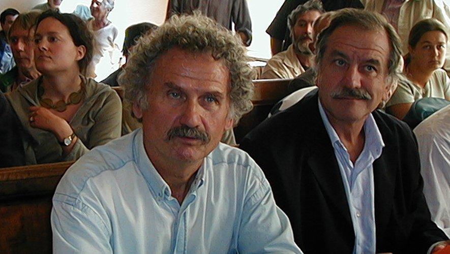 Avec Noël Mamère au tribunal de Millau le 12 septembre 2001.