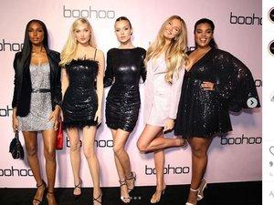 Josephine Skriver, Elsa Hosk, Romee, Strijd, Jasmine Tookes et Yvonne Simone prêtent leurs traits à la campagne de fin d'année de Boohoo.