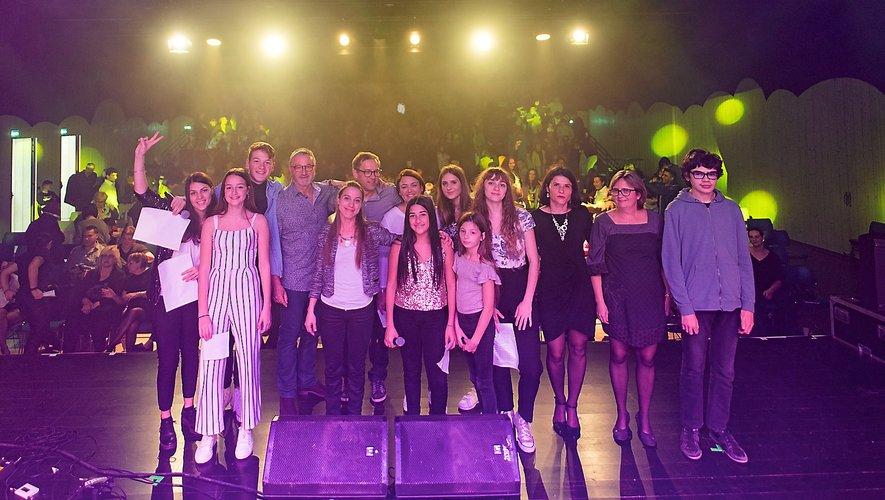 Jeunes chanteurs, musiciens et organisateurs réunis lors de l'édition 2018.