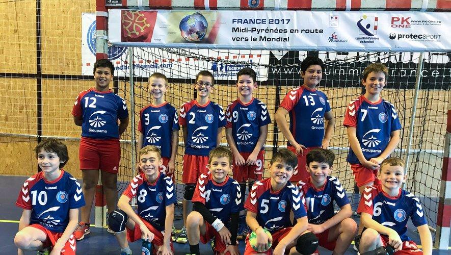 L'équipe des 11 ans garçons victorieuse d'Espalion.