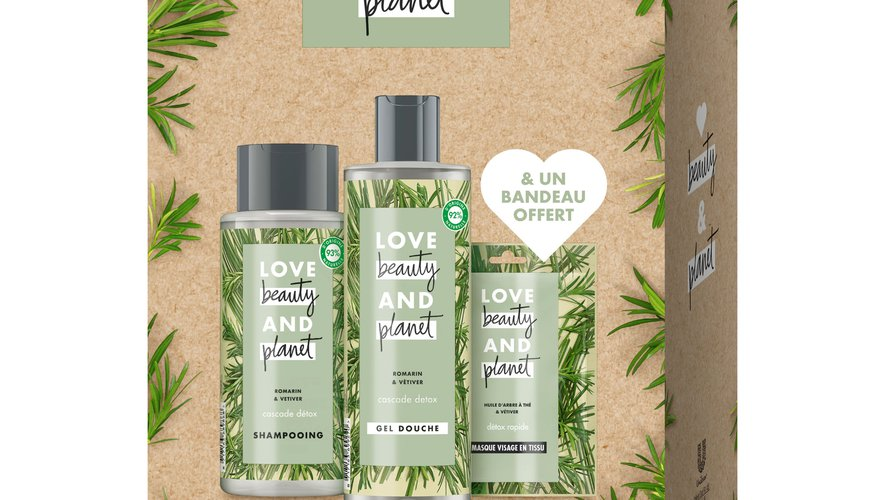 Le coffret Romarin & Vétiver par Love Beauty and Planet - Prix : 19,99 euros - Où le trouver : en GMS.