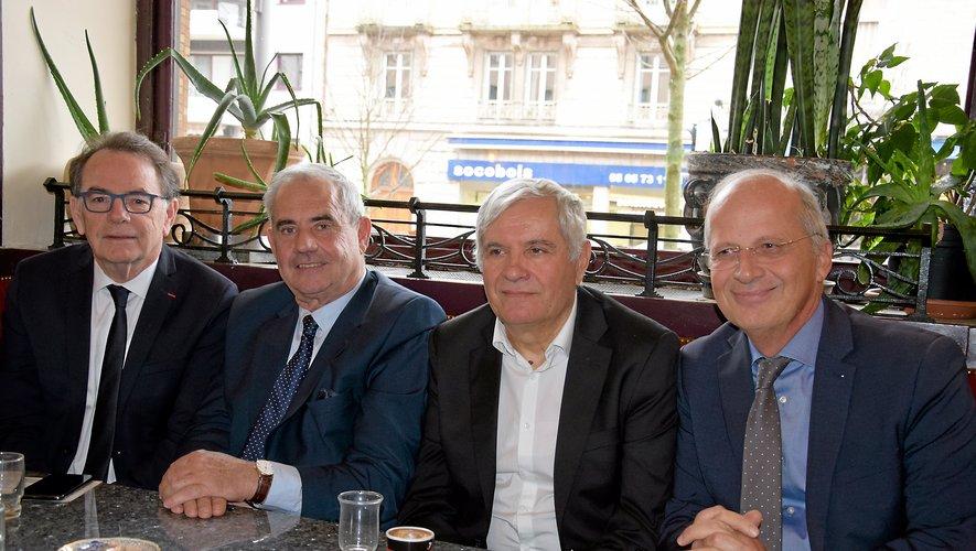 De gauche à droite : Christian Teyssèdre, Francis Castan, Joseph Donore et Dominique Trojani.