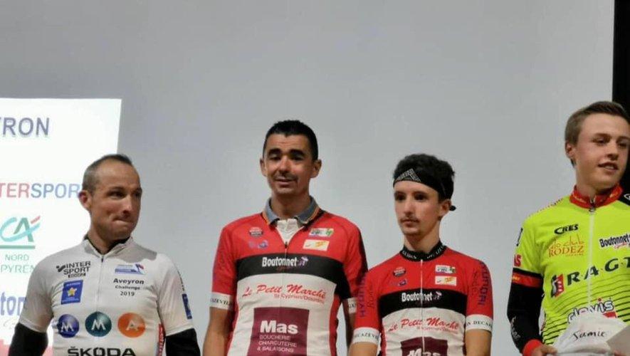 Deux coureurs du Guidon sur le podium du challenge Skoda MMA.