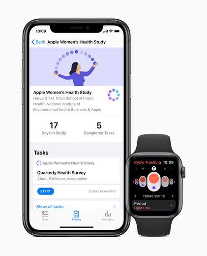 """Les utilisateurs d'Apple peuvent choisir de participer à l'étude """"Women's Health Study"""" via l'application Research."""