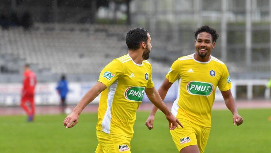 Ayoub Ouhafsa et Dorian Caddy ont tous les deux inscrit un doublé pour Rodez.