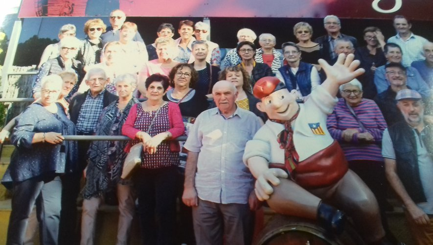 Le club des aînés du Monastère à Lloret del mar pour un très beau voyage.