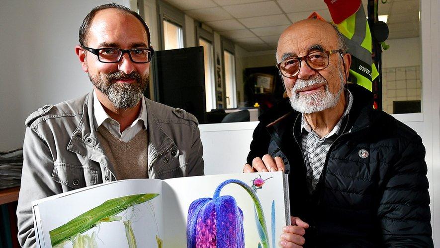 Cédric Rajadel et Christian Bernard fiers de participerà ce bel ouvrage à portée internationale.