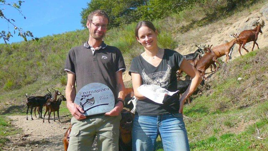 Nadine Boulant, Matthieu Jean et les chèvres du Rove.