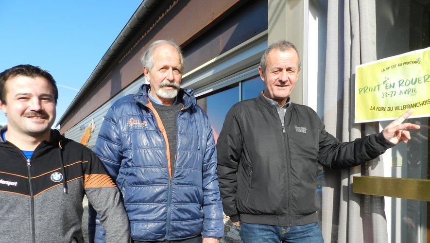 « Gagnant-gagnant » pour Cyprien Alcouffe, Louis Castan et Marc Mailhé (de g à d).