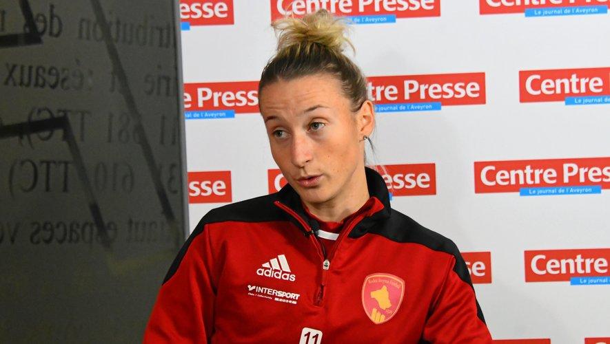Anna Banuta en est à neuf buts marqués en neuf matches de championnat de  D2 avec les Rafettes.