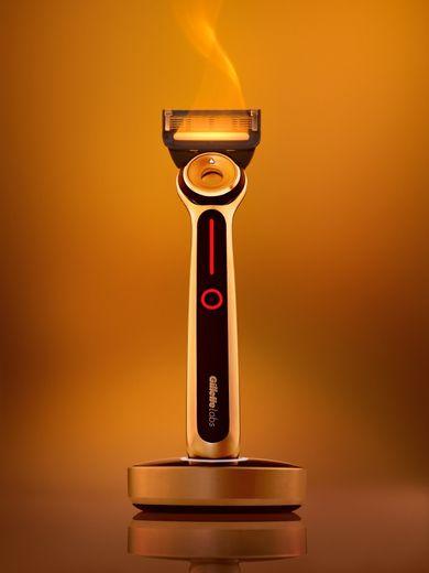 Le Rasoir Chauffant de Gillette - Prix : 199,95 euros - Site : www.gillette.fr.