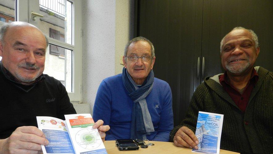 Le président de la SCIC, Michel Delpech, entouré du directeur, Yves Abibou, et du chargé de la communication, Guy Pezet.