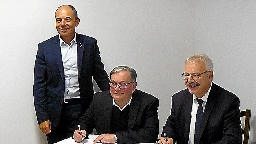 Philippe Coy, Alain Vieilledent et Dominique Costes.