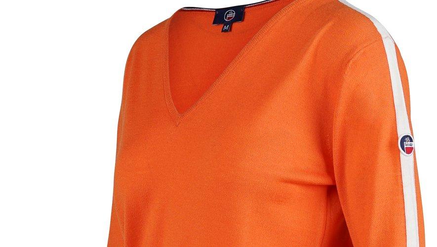 Un des pulls issus de la nouvelle collection Fusalp x The Woolmark Company.