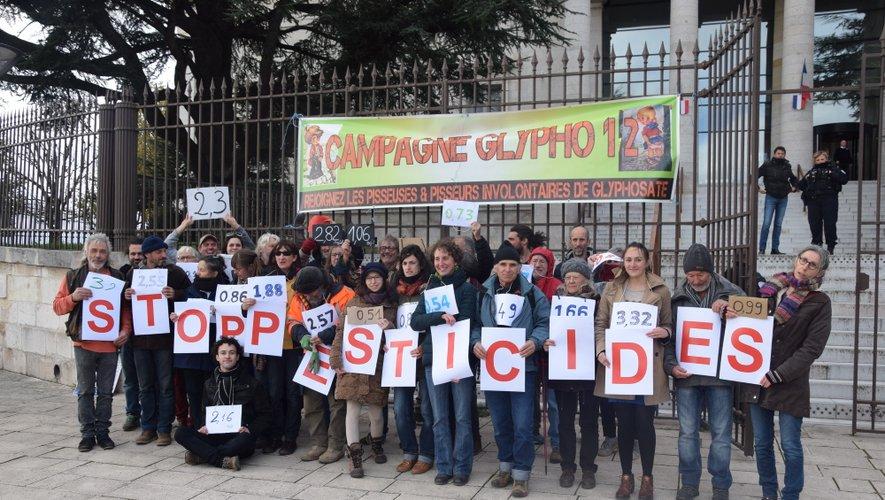 Contrôlés positifs au glyphosate, ils ont déposé plainte  au tribunal de Rodez.