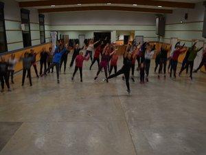 Les gymnastes en action.