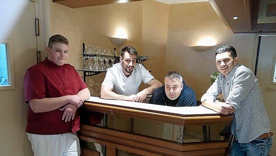 Bastien, Kévin, Ludovic et Quentin, les quatre « mousquetaires » de L'Atelier.