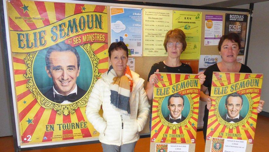 Monique, Véronique et Isabelle lors de la permanence samedi dernier à Luc.