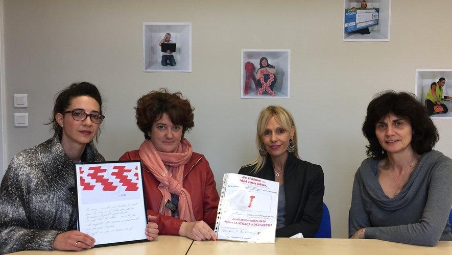 Les organisatrices de cette soirée pour la lutte des violences faites aux femmes.