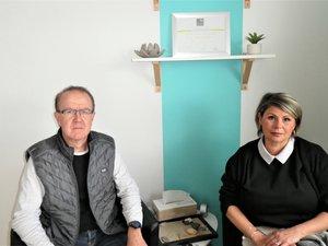 Céline Cheval-Therville et Didier Camaly dans leur cabinet au Bouldou.