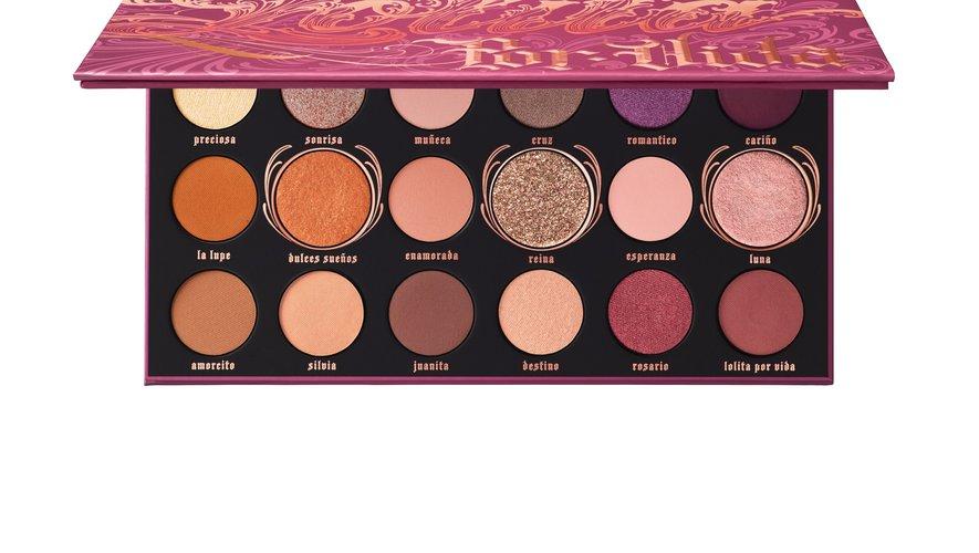 La palette Lolita Por Vida de Kat Von D Beauty - Prix : 49,50 euros - Sites : Katvondbeauty.com ou Sephora.fr.