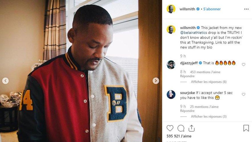 Will Smith présente la deuxième collection de sa marque Bel-Air Athletics.