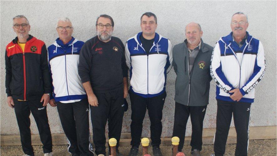 L'équipe Vigouroux et la triplette Galtier de Sébazac