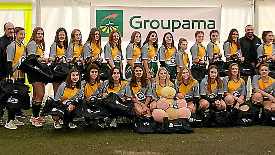Des sacs de sport pour les filles de Lévezou Ségala Aveyron XV