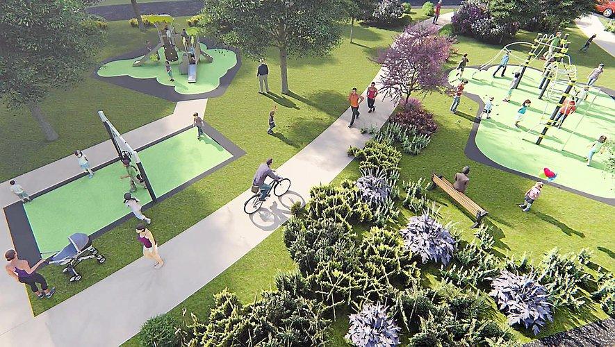 Trois espaces de jeux pour enfants seront recréés.