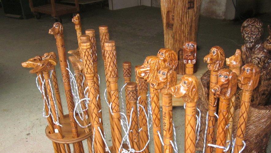 Des cannes et bâtons qui rentreraient bien volontiers dans un sabot de Noël.