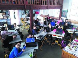 L'école de Saint-Julien-de-Piganiol se dote d'ordinateurs portables