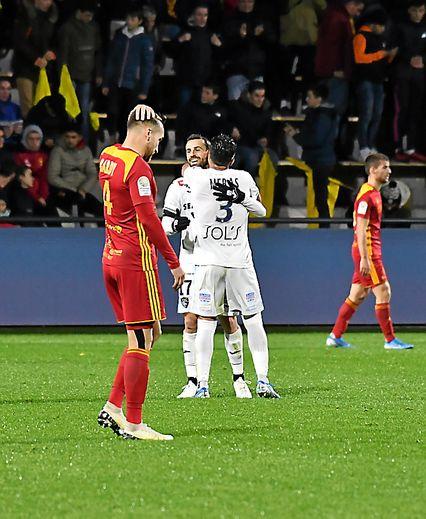 La déception des Ruthénois, vendredi face au Havre.