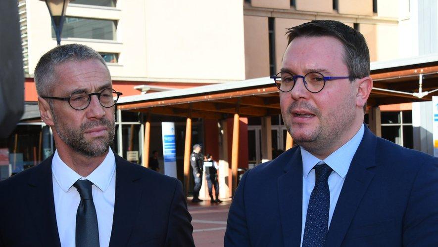Le directeur de l'hôpital Vincent Prévoteau, et le directeur de cabinet de la préfecture Pierre Bressolles ont fait le point sur les événements survenus ce matin à l'hôpital.