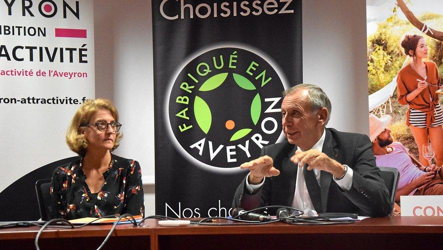 Cendrine Augueres, enseignant chercheur en marketing à Purpan et Jean-Claude Luche, sénateur et président de Fabriqué en Aveyron.