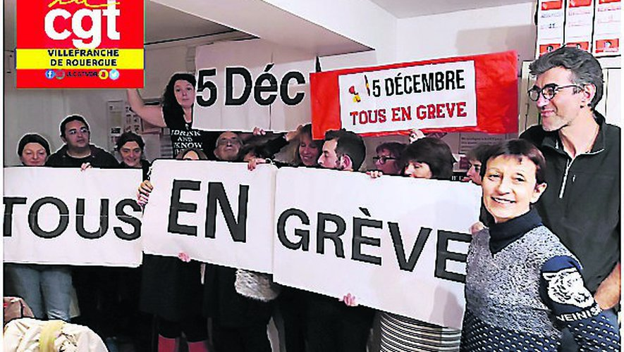 La CGT appelle à un vaste rassemblement, jeudi à Rodez, contre la réforme des retraites
