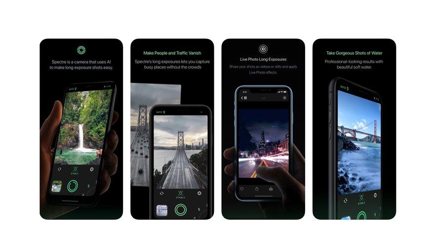 Spectre Camera a été récompensée comme meilleure application 2019 pour iPhone.