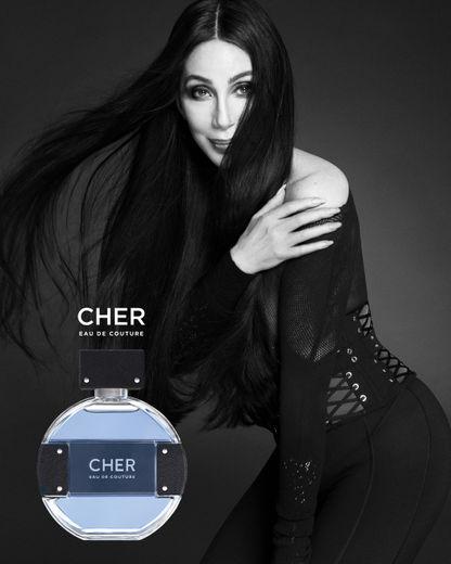 Une image de la nouvelle campagne de la fragrance de Cher