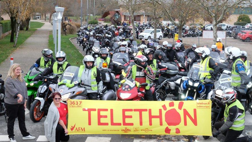 Pour le Téléthon 2018 les motards s'étaient mobilisés à Sébazac.