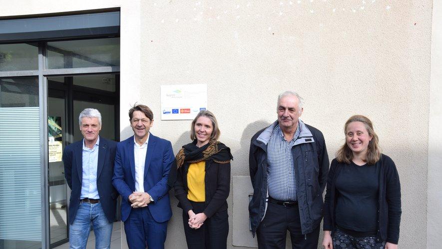 (De gauche à droite) Patrick Gayrard, Michel Artus, Catherine Adnet, Michel Mercadier et Marion Sudres.