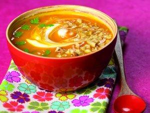 Soupe de potimarron aux noix