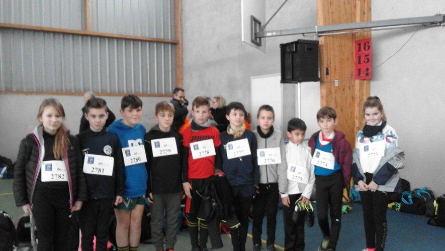 Dix écoliers de Sainte-Marie ont participé au cross départemental avec motivation
