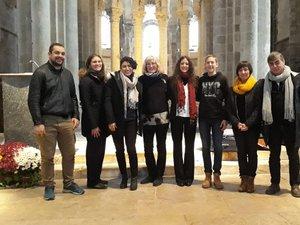 Groupe Handbells carillonneur Joy et Delphine à l'abbatiale Sainte Foy lors de la fête de la Sainte-Cécile.