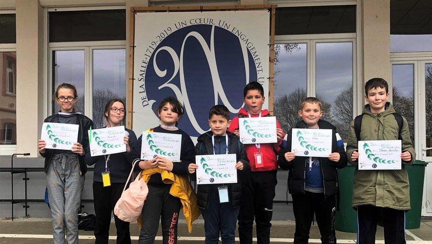 Quatre élèves de CM2 et quatre élèves de 6e de Notre Dame ont participé au rassemblement.