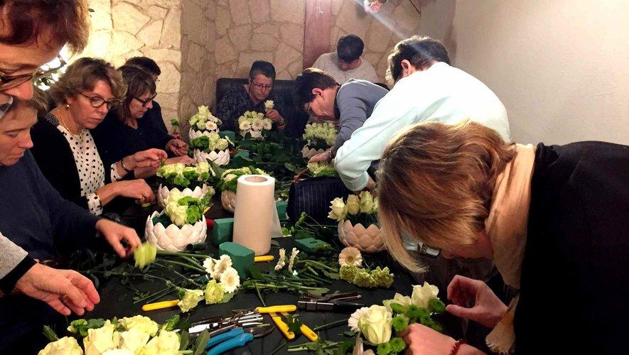 Un atelier floral exceptionnelpour les Pradelaines.