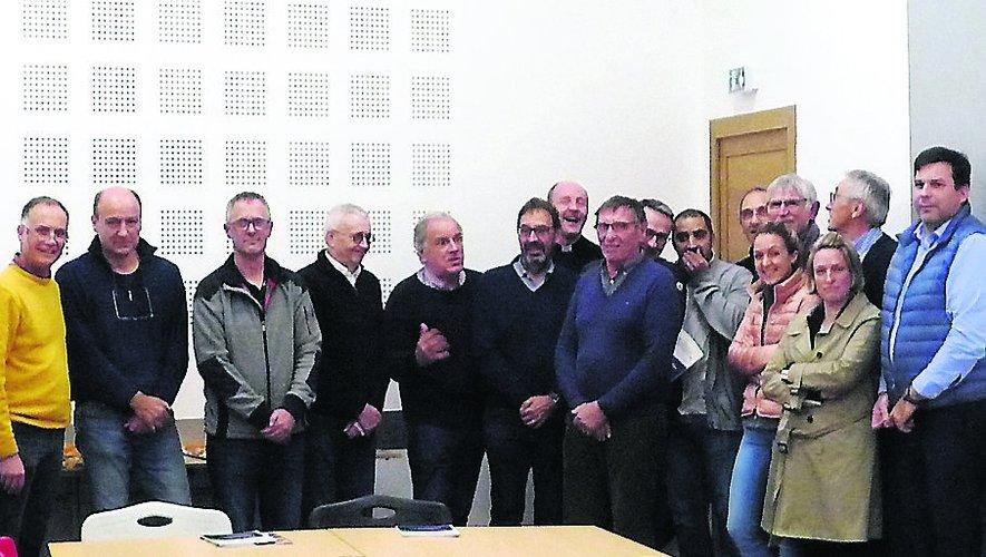 La réunion a été animée par Eric Vigneras (à droite)
