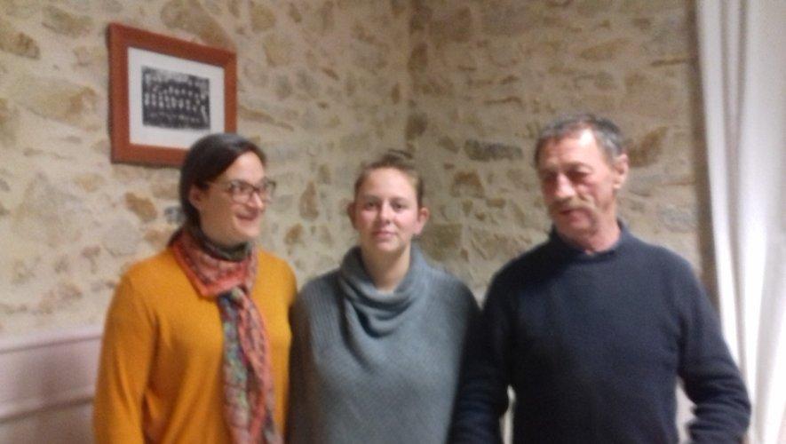 Le nouveau bureau de l'association. De gauche à droite, Pamela Djae secrétaire, Aurélie Marty présidente,  Serge Marty trésorier.